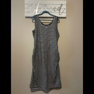 Old Navy - striped ruched maternity dress